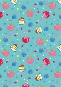 birthday gifts and cake scrapbook paper