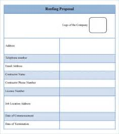 Roofing Estimate Template by Roofing Estimate Template 10 Free Word Excel Pdf
