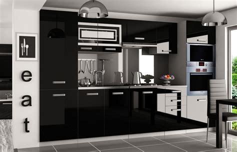 arbeitsplatte schwarz hochglanz kaufexpert k 252 chenzeile moderno wei 223 hochglanz schwarz