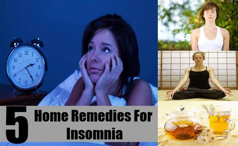 effective home remedies for insomnia treatments