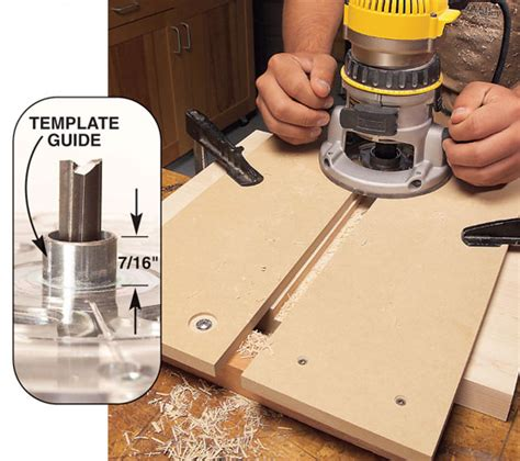 routing guide template tapered sliding dovetails aw popular woodworking magazine