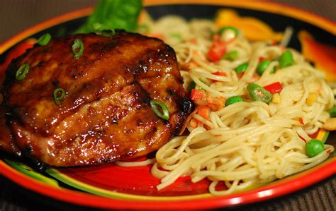 perfectly barbecued chicken with sauces mops and dry