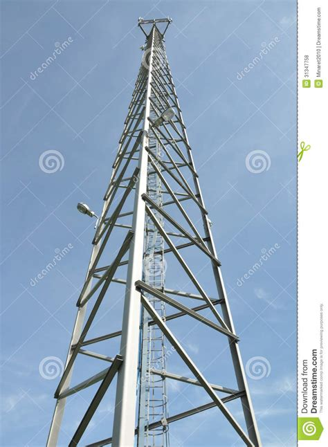 steel cell phone tower stock photo image  mast cellular