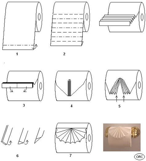 Toilet Paper Folding Designs - toilet paper origami pleat fold