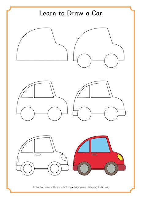 learn to draw a learn to draw a car