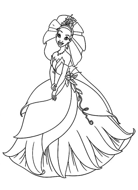 printable princess tiana coloring pages coloring me