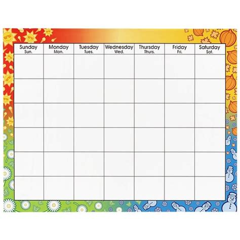classroom calendar template 14 blank activity calendar template images printable
