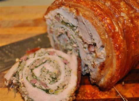 cuisiner longe de porc porchetta longe de porc r 244 tie fa 231 on porch 233 tta recettes