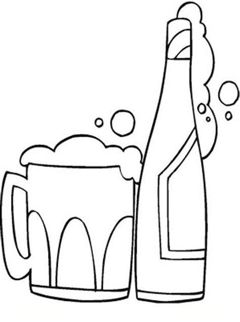 imagenes para colorear jarra botella de cerveza para colorear y pintar 4 dibujo
