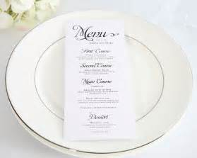 wedding dinner menu template alluring script wedding menus wedding menus by shine
