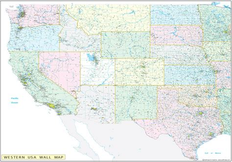 map western united states western united states executive city county wall map