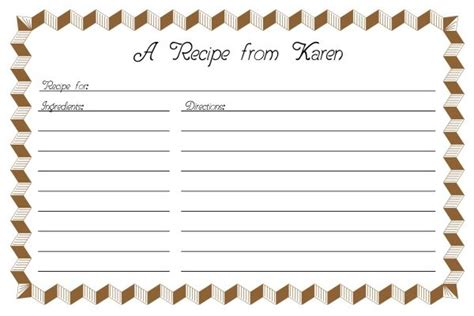recipe card template 2