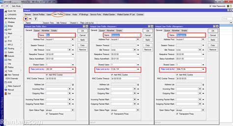 membuat user profile hotspot mikrotik cara membagi bandwidth hotspot mikotik teknik komputer