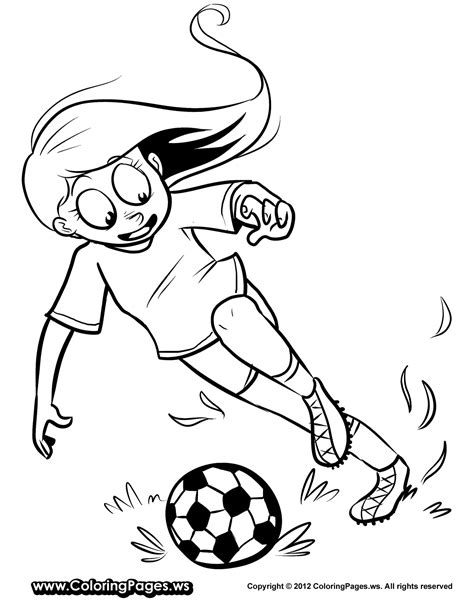 beauty girl play soccer coloring pages for kids journal