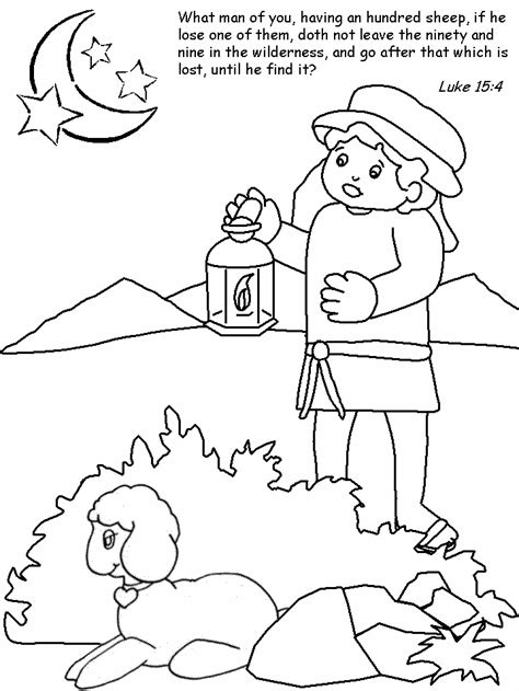 The Lost Sheep Coloring Pages the lost sheep coloring pages az coloring pages