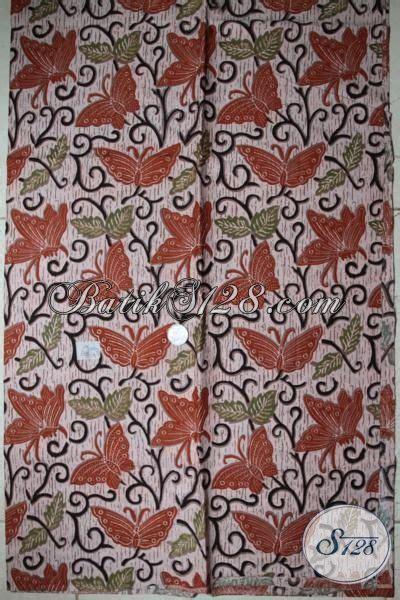 Kain Batik Katun Prima Halus Asli Pekalongan 68 bahan kain batik motif kupu cantik harga murah katun halus k1707p 200x105cm toko batik