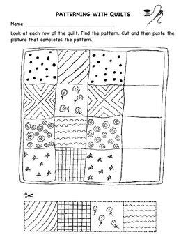 quilt math worksheets printable patterning with quilts worksheet preschool quilt