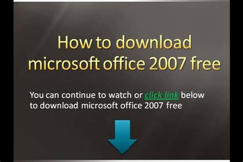microsoft office 2007 for free download software and pc games