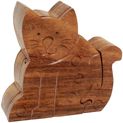 Soapstone Candle Holders Wooden Sitting Cat Puzzle Box From India Fair Trade