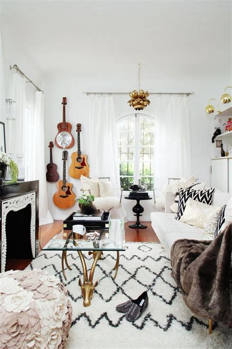 decoracion de interiores de estilo boho chic  disenos
