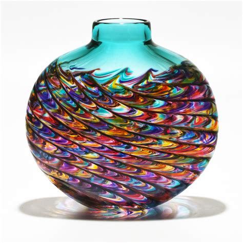 Coloured Glass Bowls Vases Coloured Glass Vases Lagoon By Michael Trimpol Boha