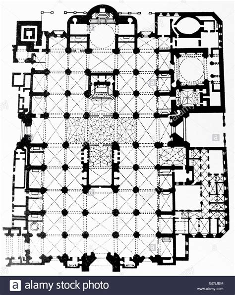cathedral floor plans cathedral of seville floor plan stock photo royalty free