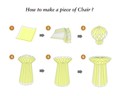 How To Make A Paper Chair - a of paper chair wantseng