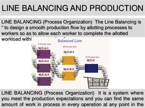 product layout assembly line balancing line balancing
