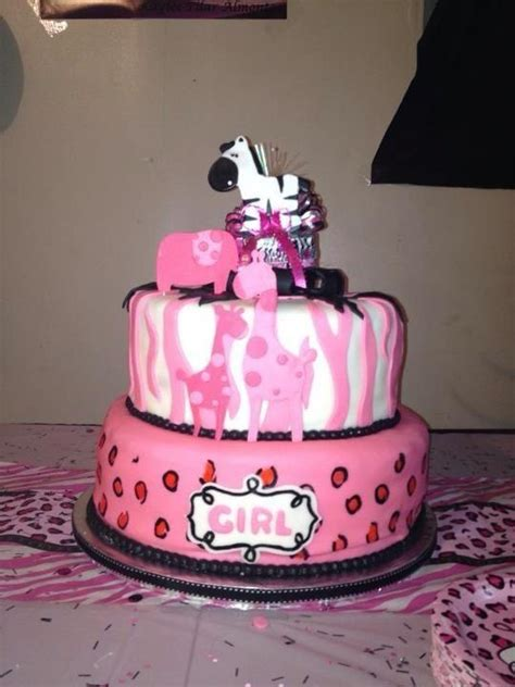 Safitri Pink pink safari baby shower cake girly elephant baby shower