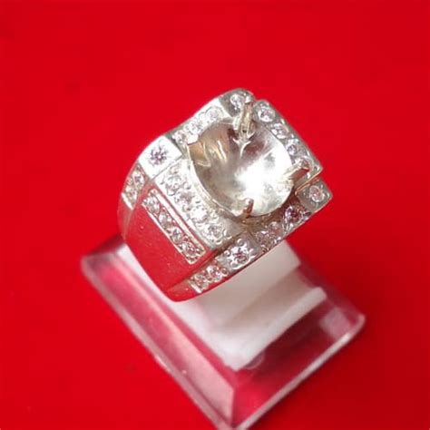 Dijamin Senter Batu Cincin Model Pulpen Silver model cincin perak kode 103 pusaka dunia