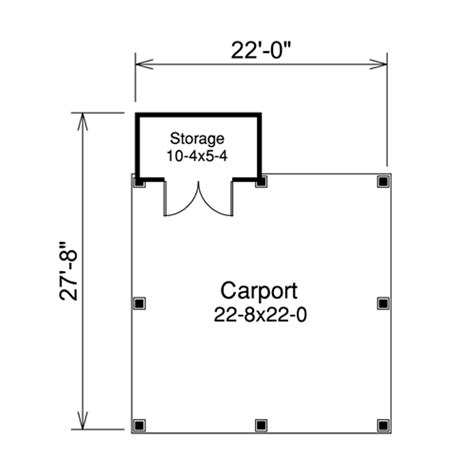 Single Car Carport Size Pavilion 2 Car Carport Plans
