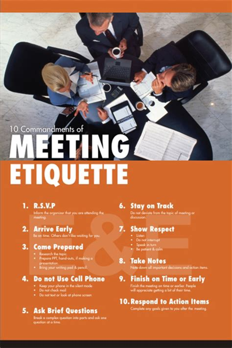 conference room etiquette meeting etiquette