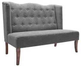 high back settee with arms linon home decor products settee with tufted back