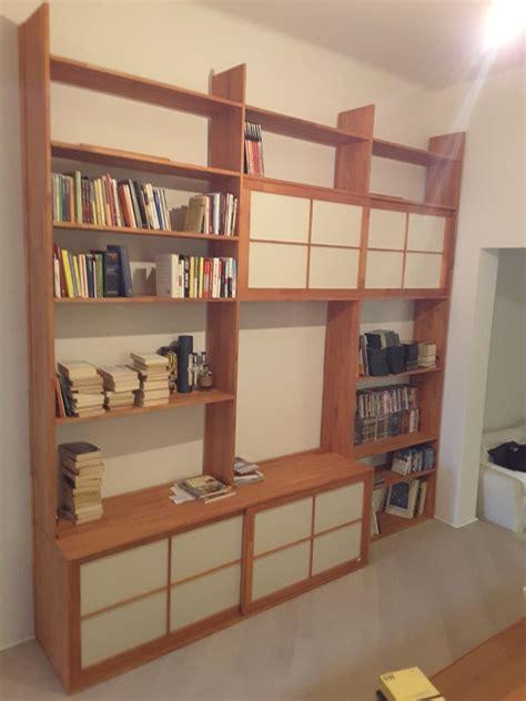 libreria rossa cinius foto progetti realizzati di mobili su misura