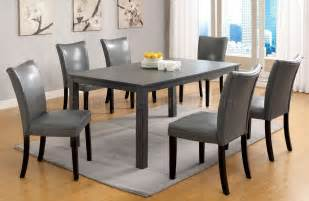 Gray Dining Room Furniture Cm3179t Kenton I 7pc Dining Set In Gray