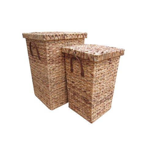 Buy Water Hyacinth Laundry Basket Square From The Basket Basket Laundry