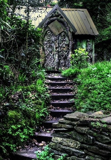 wonderful shed in the witch garden witchery