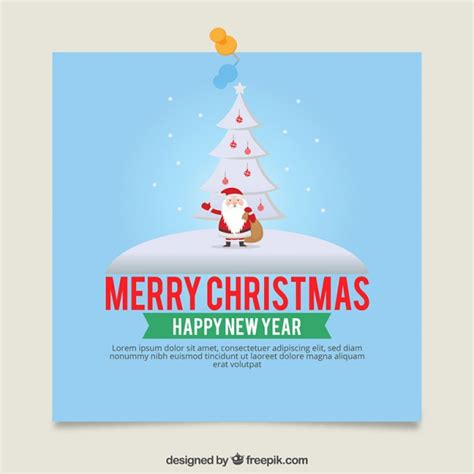 santa card template card template with santa claus vector free