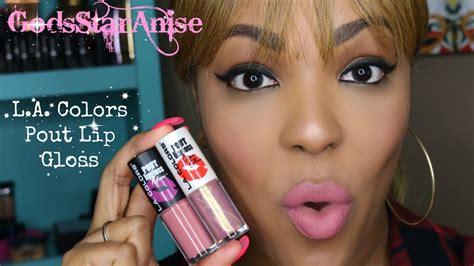 Pucker Up La Colors Pout Lipgloss Supershine l a colors pout lip gloss swatches