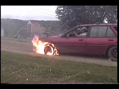 burnout  tire fire youtube