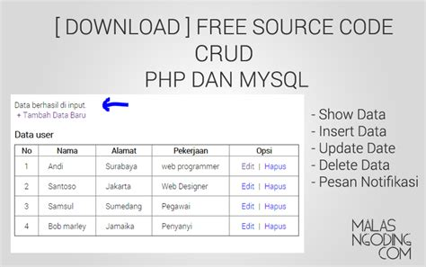 ebook membuat website dengan php dan mysql crud php mysql tutorial archives malas ngoding