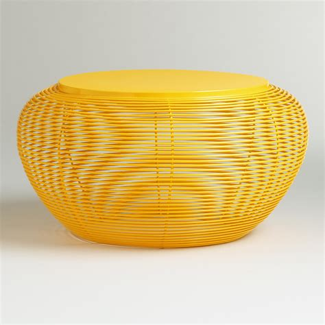 Yellow Coffee Tables Yellow Carilo Coffee Table World Market