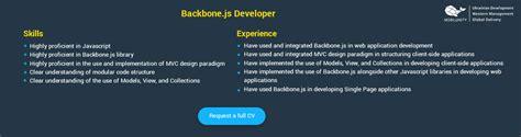 backbone js resume resume ideas
