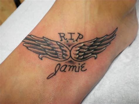 angel wings wrist tattoo wings foot