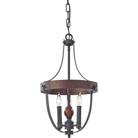 Acorn Chandelier Feiss Alston 3 Light Charcoal Brick Acorn 1 Tier Chandelier F2795 3af Cba The Home Depot
