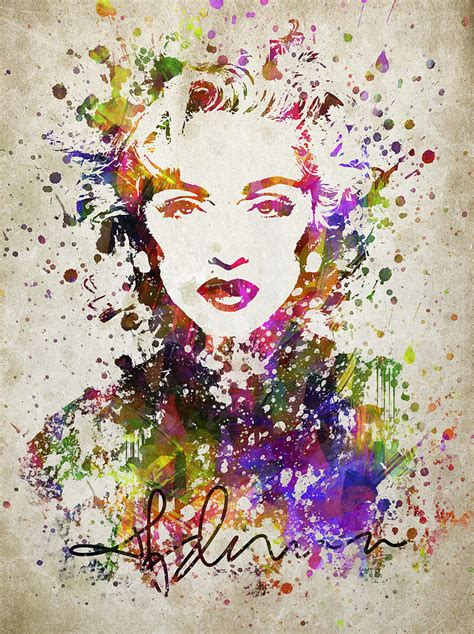 Colored Duvet Covers Madonna In Color Digital Art By Aged Pixel