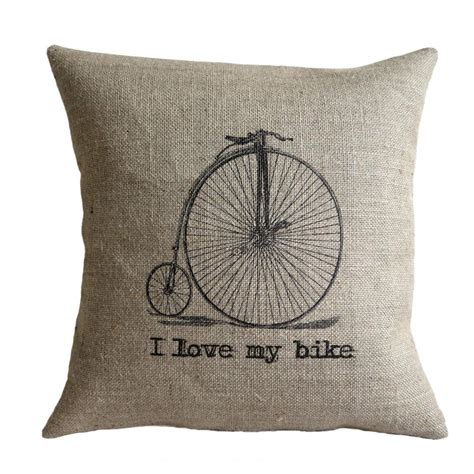 Vintage Pillow by I Bike Vintage Bicycle Pillow Cover On Luulla