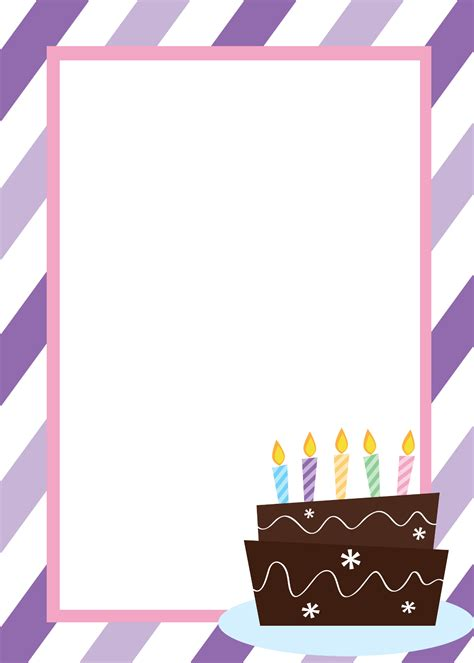 birthday template free printable birthday invitation templates