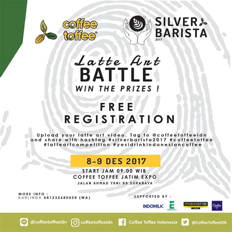 Gratis Ongkir S D 9 Desember 2017 coffee toffee latte battle coffee toffee jatim expo 8 9 desember 2017 haievent