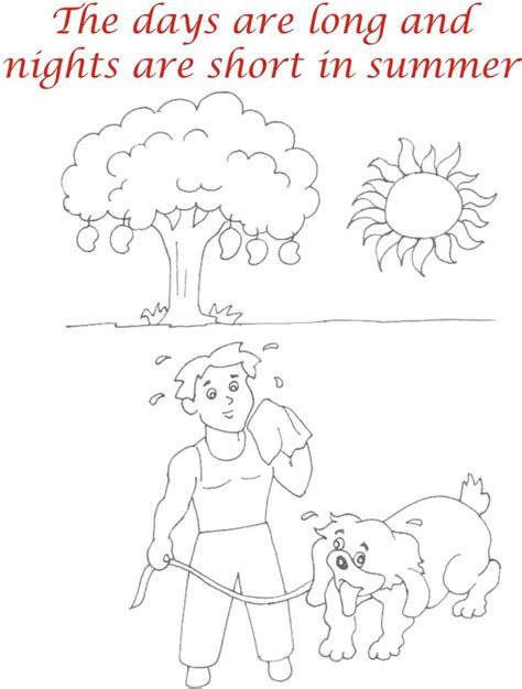free coloring pages of summer seasons